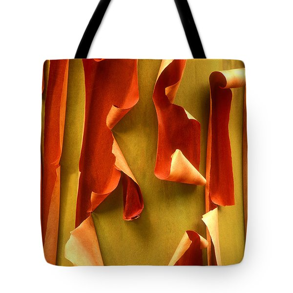 Tote Bag featuring the photograph Peeling Bark Pacific Madrone Tree Washington by Dave Welling