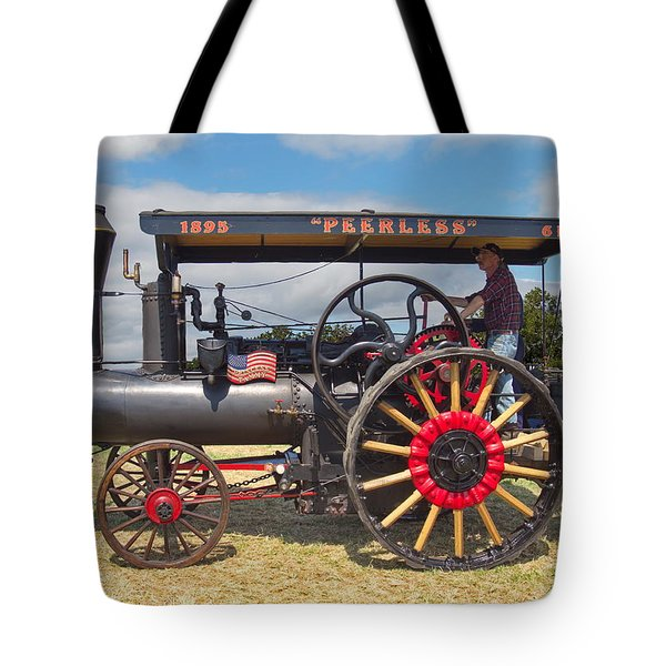 Peerless Steam Traction Engine Tote Bag