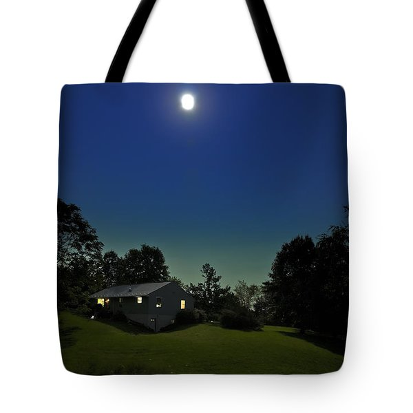 Tote Bag featuring the photograph Pegasus And Moon by Greg Reed