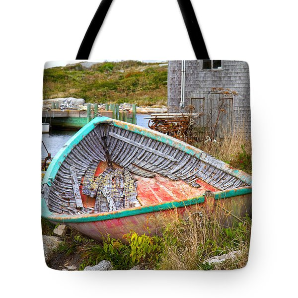 Peggy's Cove 11 Tote Bag by Betsy Knapp