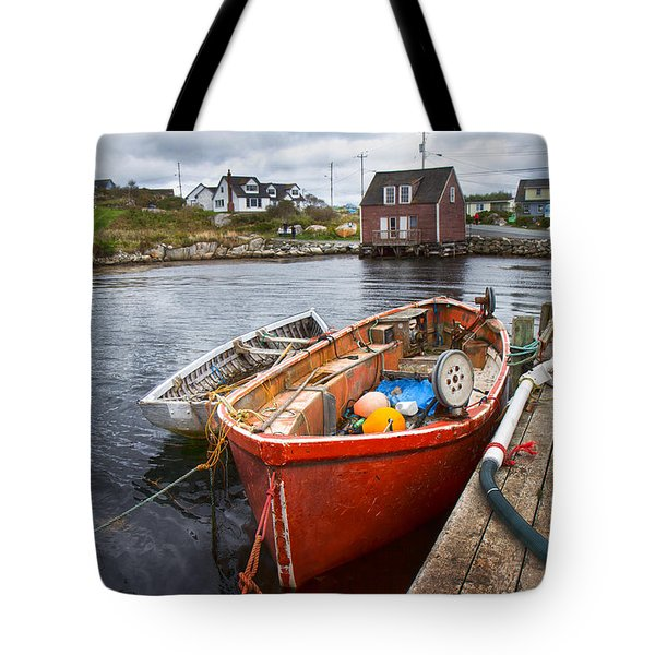 Peggy's Cove 19 Tote Bag by Betsy Knapp