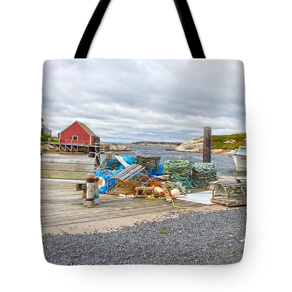 Peggy's Cove 2 Tote Bag by Betsy Knapp