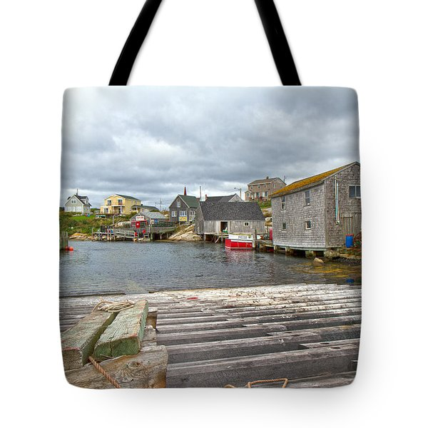 Peggy's Cove 9 Tote Bag by Betsy Knapp