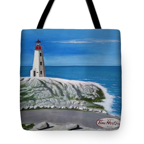Peggy's Cove Tote Bag by John Lyes