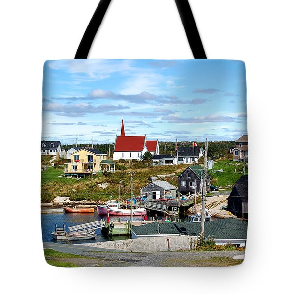 Peggys Cove Tote Bag by Ron Haist