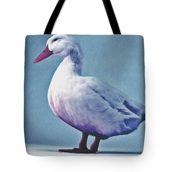 Pekin Ducks 2 Tote Bag by Lanjee Chee