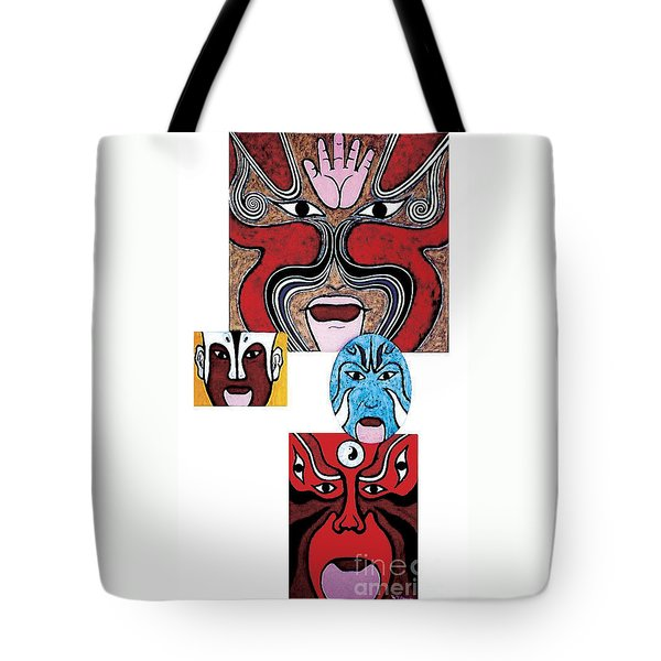 Tote Bag featuring the painting Peking Opera No.1 by Fei A