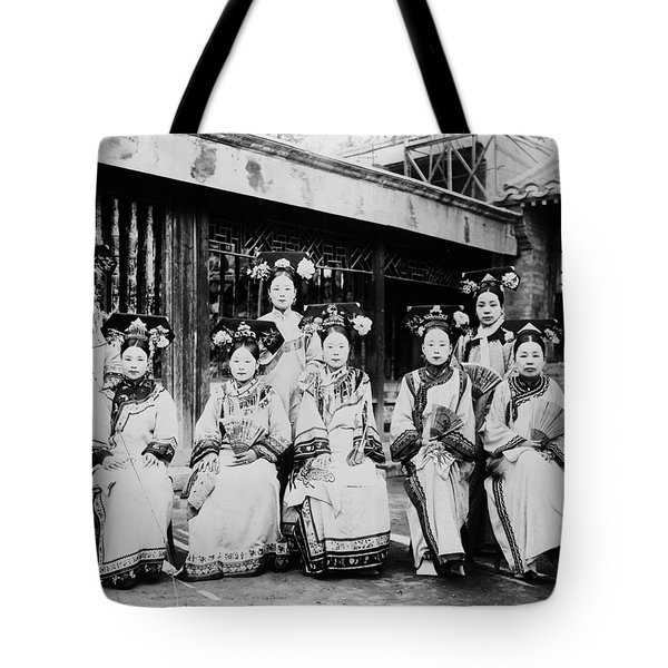 Tote Bag featuring the photograph Peking Palace Women by Granger