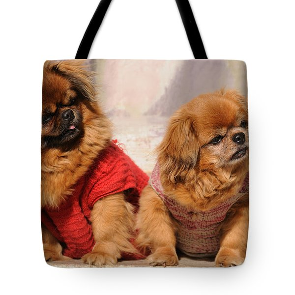 Pekingese Pair Tote Bag