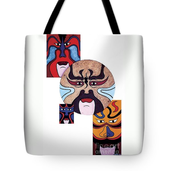 Tote Bag featuring the painting Pekingopera No.2 by Fei A