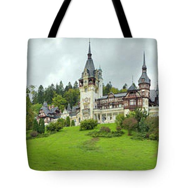 Peles Castle In The Carpathian Tote Bag