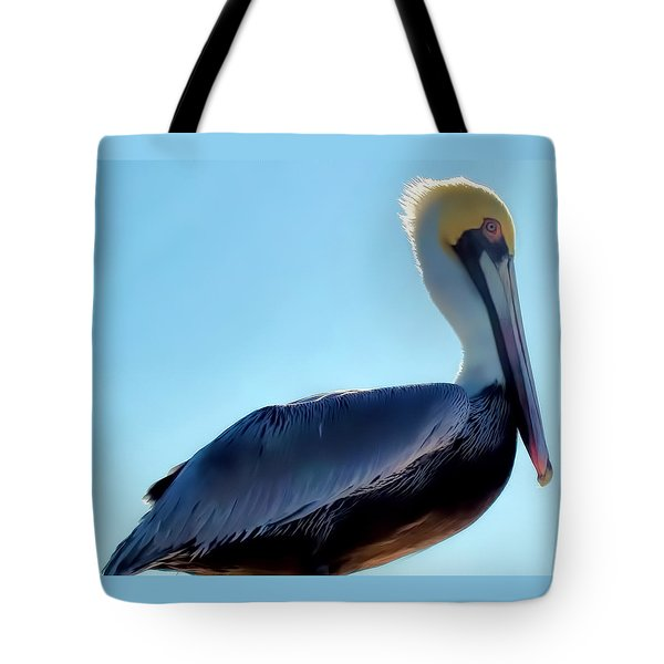 Tote Bag featuring the photograph Pelican 1 by Dawn Eshelman