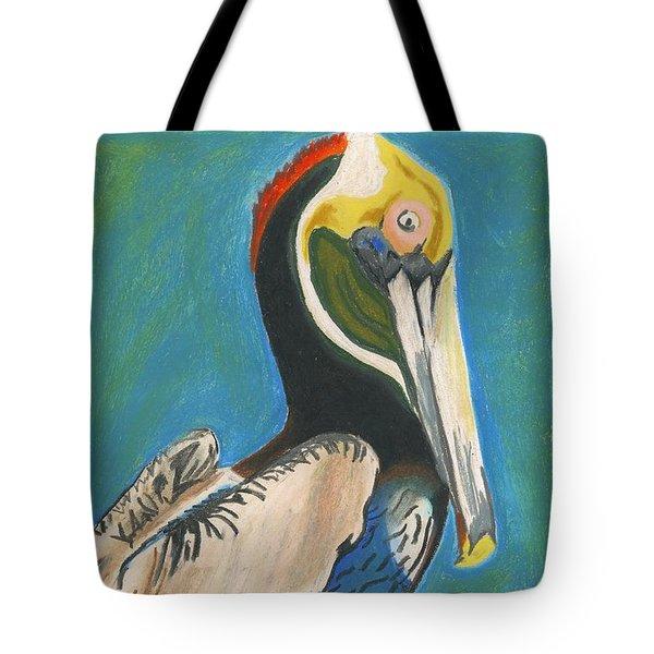 Pelican Blue Tote Bag