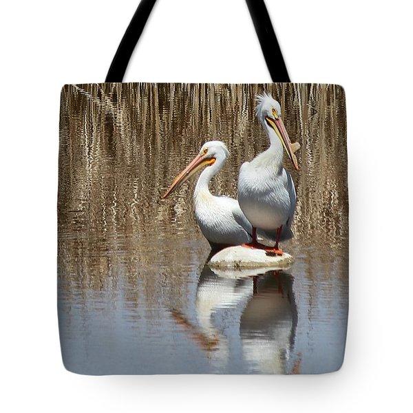 Pelican Deuce Tote Bag by Diane Alexander