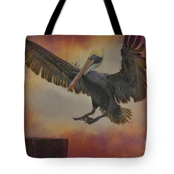 Pelican Grace Tote Bag by Deborah Benoit