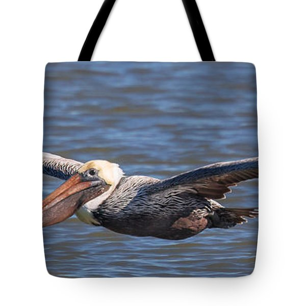 Pelican In Flight Tote Bag