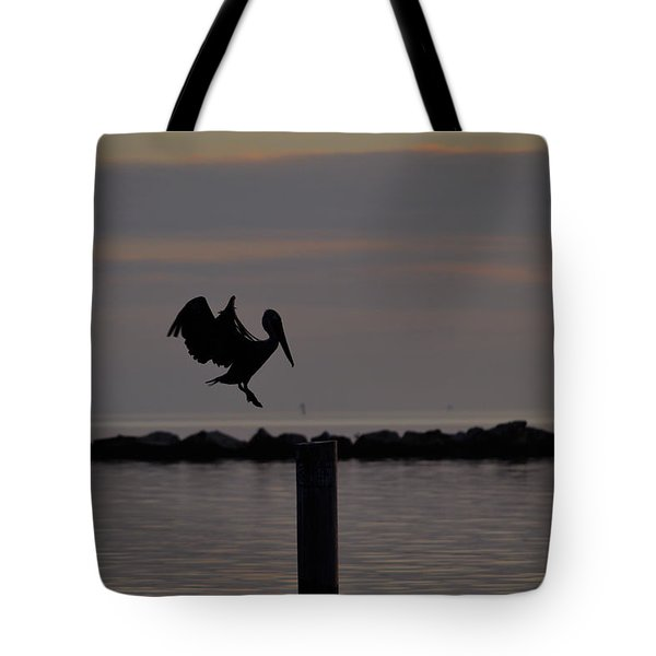 Pelican Landing Tote Bag by Leticia Latocki