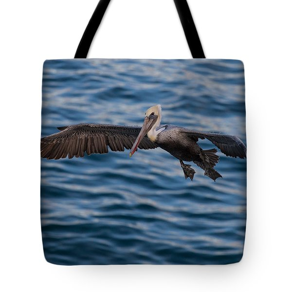 Tote Bag featuring the photograph Pelican Landing by Sonny Marcyan