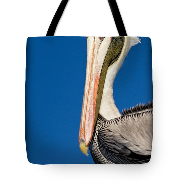 Tote Bag featuring the photograph Pelican by Les Palenik