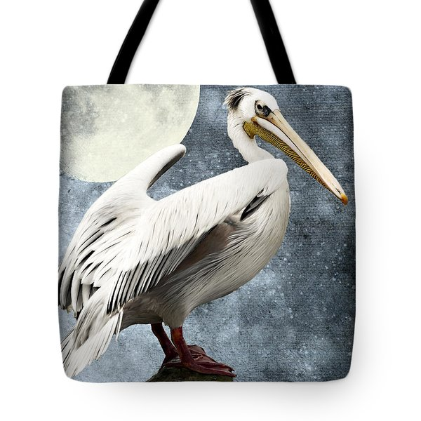 Pelican Night Tote Bag by Angela Doelling AD DESIGN Photo and PhotoArt