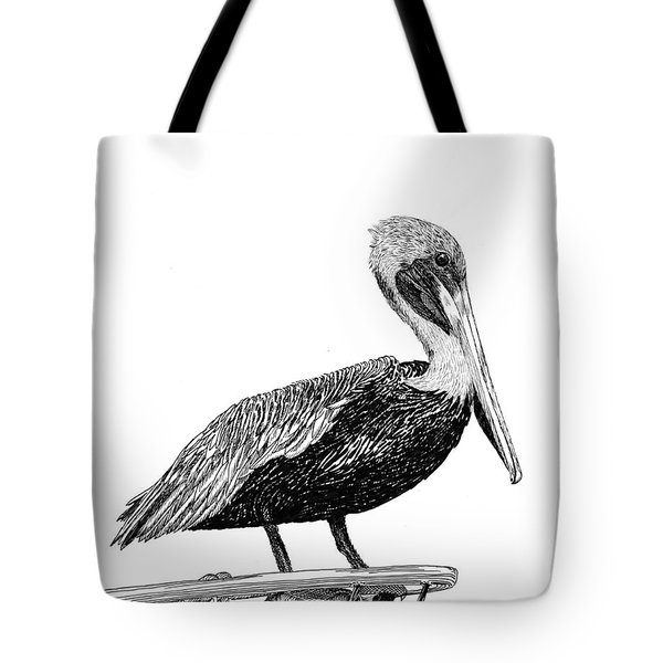 Pelican Of Monterey Tote Bag by Jack Pumphrey