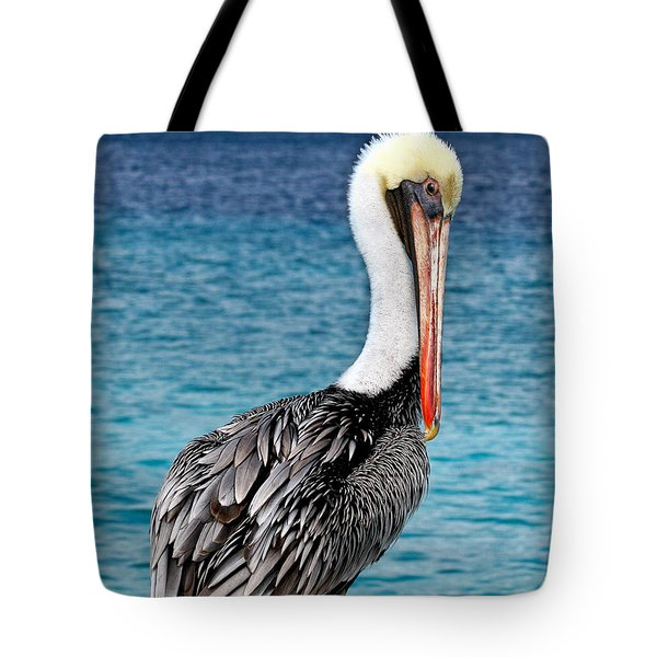 Pelican Portrait Tote Bag