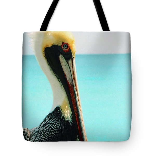 Pelican Profile And Water Tote Bag