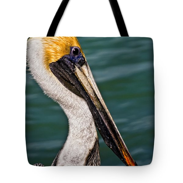 Pelican Profile No.40 Tote Bag by Mark Myhaver
