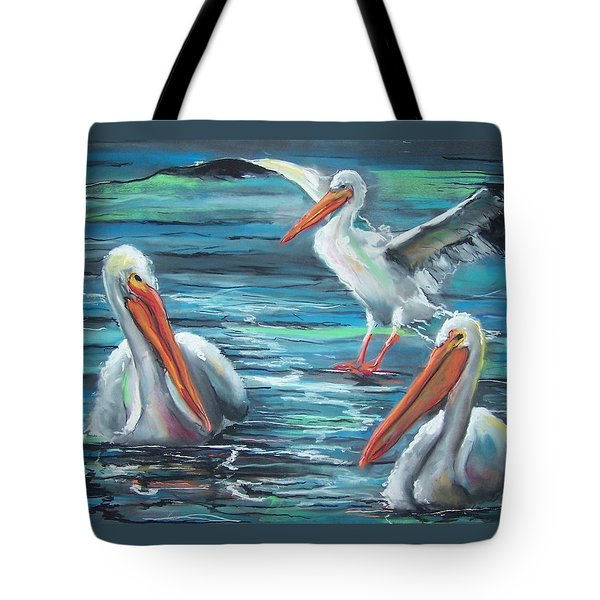 Tote Bag featuring the pastel Pelican Profile by Peter Suhocke