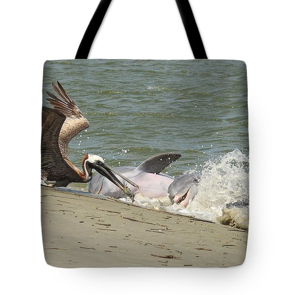 Pelican Steals The Fish Tote Bag