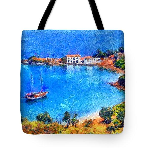 Pelion Tzasteni Tote Bag by George Rossidis