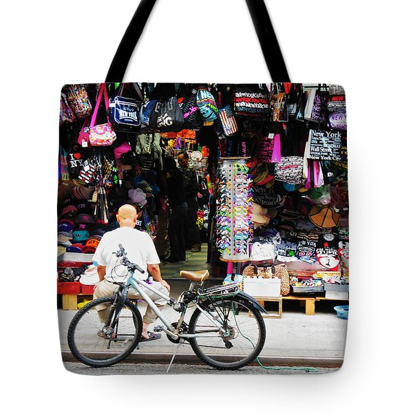 Tote Bag featuring the photograph Pell St. Chinatown  Nyc by Joan Reese