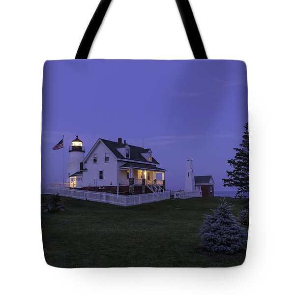 Pemaquid Point Light - Blue Hour Tote Bag