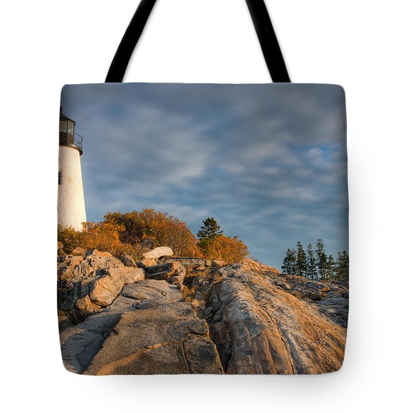 Pemaquid Point Light Vi Tote Bag by Clarence Holmes