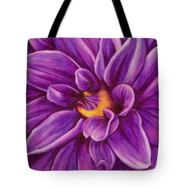 Pencil Dahlia Tote Bag