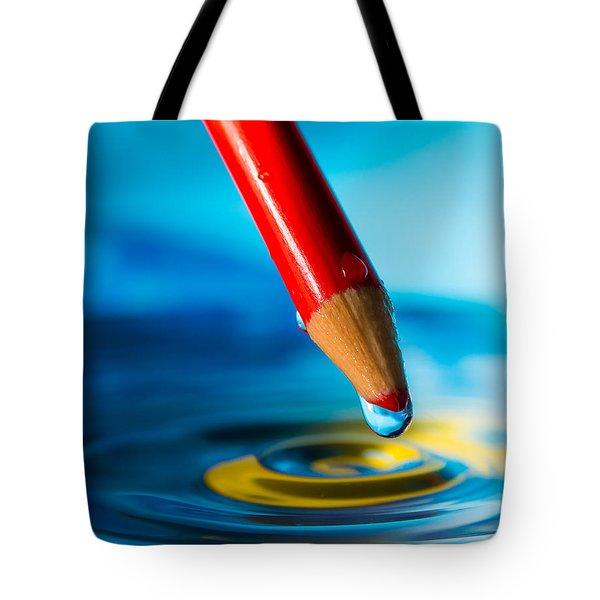 Pencil Water Drop Tote Bag