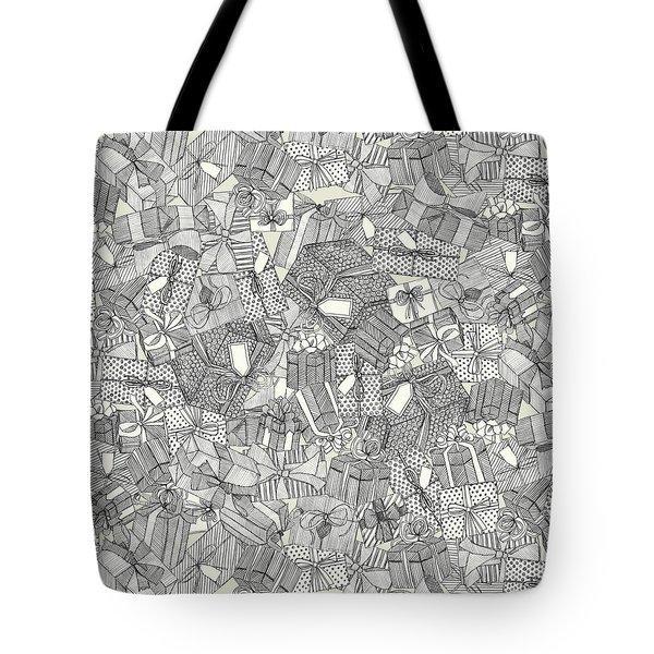 Pencil Parcels Ivory Tote Bag