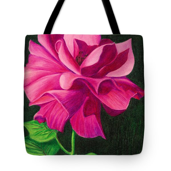 Pencil Rose Tote Bag