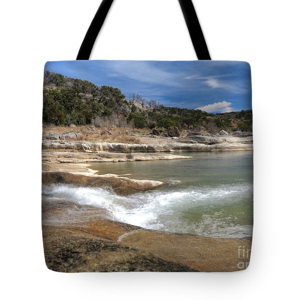 Tote Bag featuring the photograph Pendernales Falls Texas by Martin Konopacki