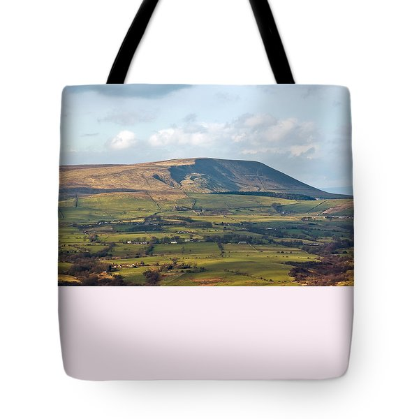 Tote Bag featuring the photograph Pendle Hill Lancashire England by Jane McIlroy