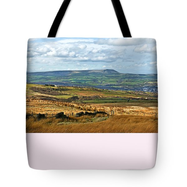 Tote Bag featuring the photograph Pendle Hill Lancashire by Jane McIlroy