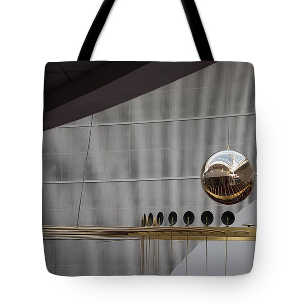 Tote Bag featuring the photograph Pendulum Sculpture by Patricia Babbitt