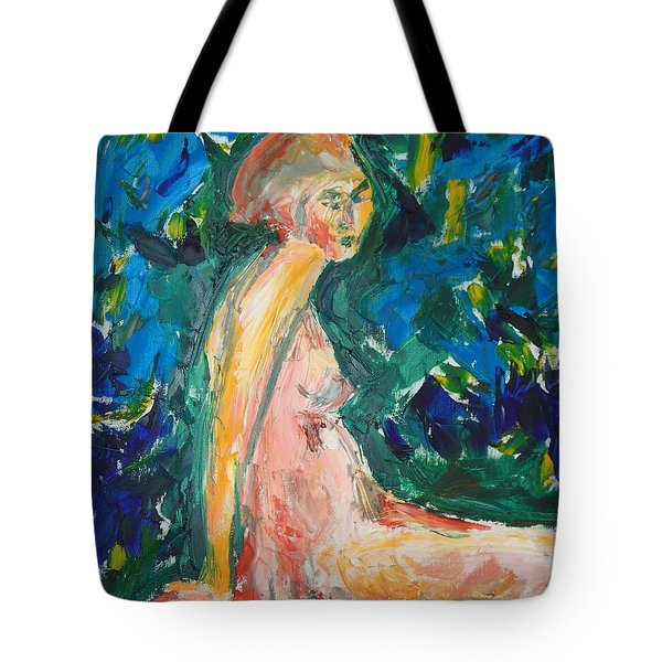 Tote Bag featuring the painting Penelope Silenced by Esther Newman-Cohen