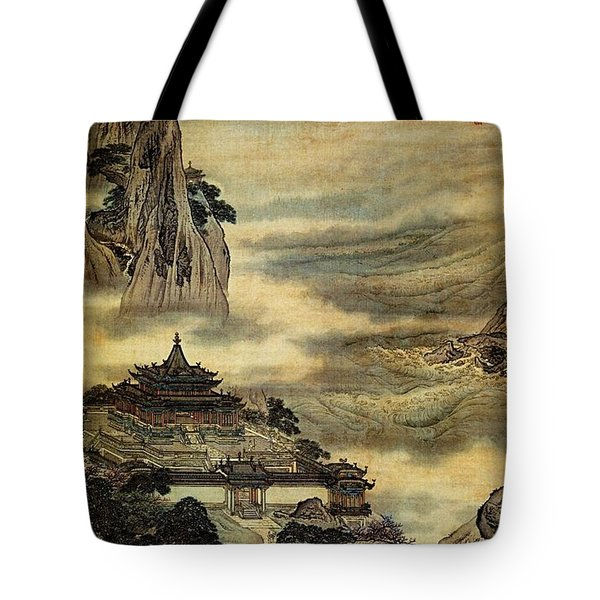 Penglai Island Tote Bag by Pg Reproductions