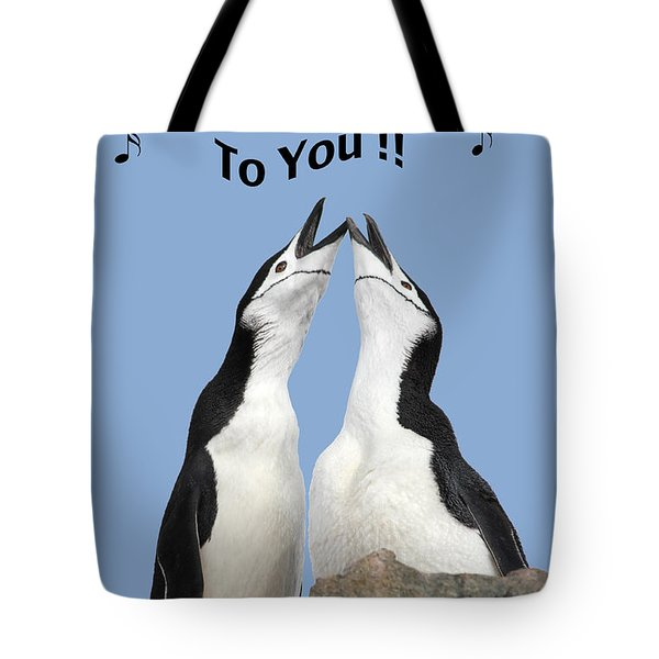 Penguin Birthday Card Tote Bag