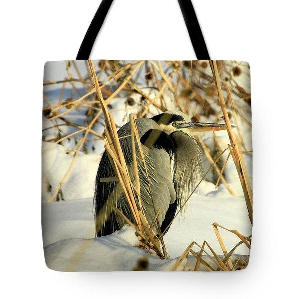 Penguin Heron  Tote Bag