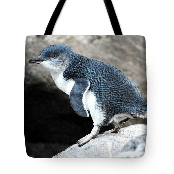 Tote Bag featuring the photograph Penguin by Yew Kwang