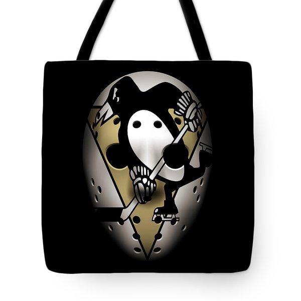 Penguins Goalie Mask Tote Bag