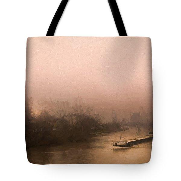 Peniche Sur La Riviere Main - Francfort  Tote Bag