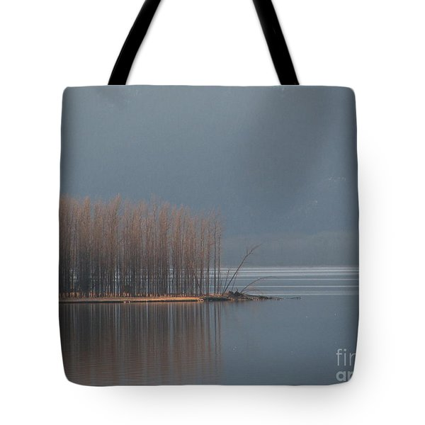 Peninsula Of Trees Tote Bag